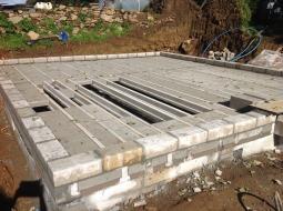 Block-and-beam installation