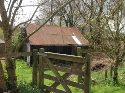 Barn with gate