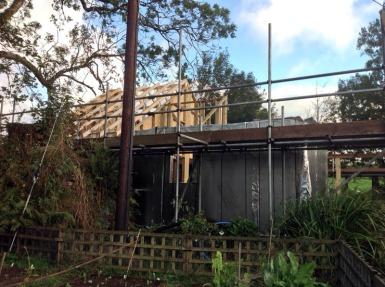 Bedroom roof trusses in