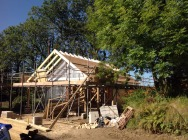 The roof is getting there!