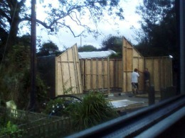 And the walls started going up!