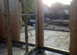 End of day 1 of frame erection